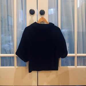 COS Drapey Soft Neck Short Sleeve Jumper NWOT